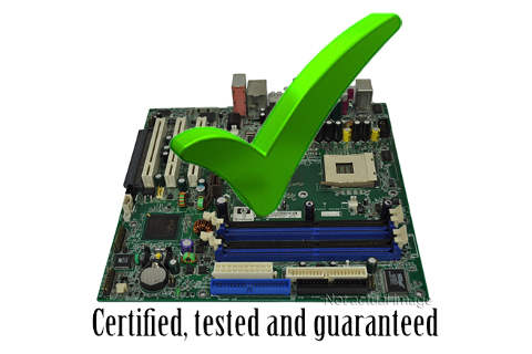 our parts are certified, tested and guaranteed