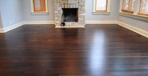 Fumed and Stained Floor
