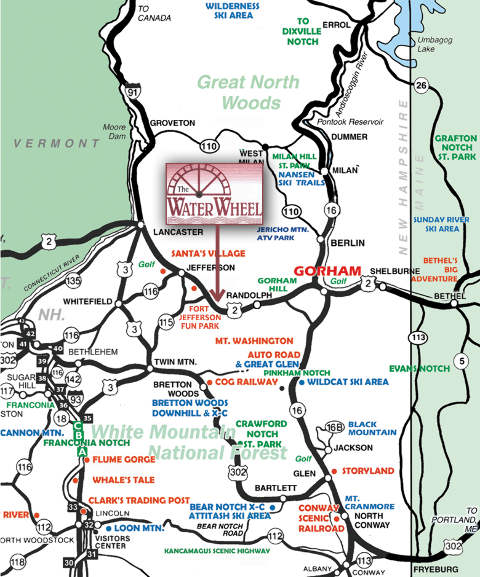 White Mountains Road Map