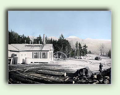 1939 photo of the Water Wheel, Jefferson, NH
