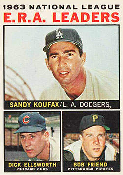1964 Topps (#1 Dick Ellsworth, Bob Friend & Sandy Koufax)