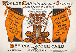 1909 World Series Program