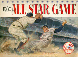 1960 All-Star Game 2 Program