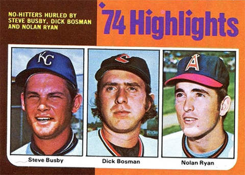 Dick Bosman No Hitter