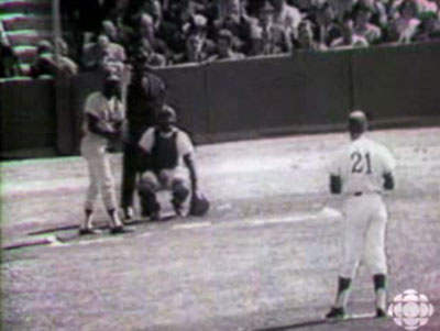 Lou Brock First At-Bat in Canada