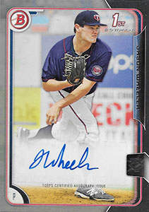 Jason Wheeler Autograph on a 2015 Bowman Baseball Card (#PA-JW)