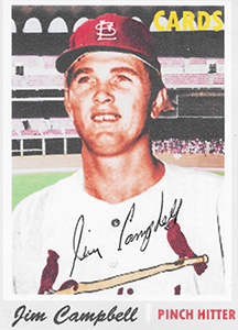 Jim Campbell Autograph on a 1970 ACEO Art Baseball Card