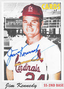 Jim Kennedy Autograph on a Aceo Art Baseball Card