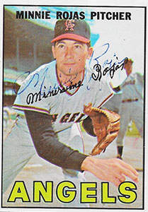 Minnie Rojas Autograph on a 1967 Topps Baseball Card (#104)