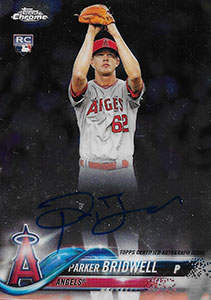 Parker Bridwell Autograph on a 2018 Topps Chrome Baseball Card (#RA-PBR)