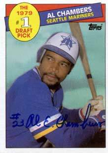 Al Chambers Autograph on a 1985 Topps Baseball Card (#277 | <a href='../baseball_cards/baseball_cards_oneset.php?s=1985top06' title='1985 Topps Baseball Card Checklist'>Checklist</a>)