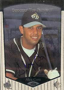 Alex Cora Autograph on a 1997 Upper Deck SP (#69)