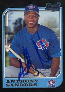 Anthony Sanders Autograph on a 1997 Bowman (#127)