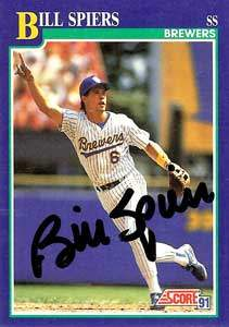 Bill Spiers Autograph on a 1991 Score Baseball Card (#84 | <a href='../baseball_cards/baseball_cards_oneset.php?s=1991sco01' title='1991 Score Baseball Card Checklist'>Checklist</a>)