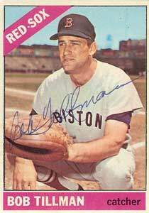 Bob Tillman Autograph on a 1966 Topps Baseball Card (#178 | <a href='../baseball_cards/baseball_cards_oneset.php?s=1966top01' title='1966 Topps Baseball Card Checklist'>Checklist</a>)