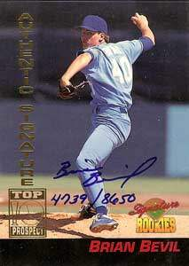 Brian Bevil Autograph on a 1994 Signature Rookies (#4)