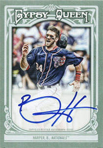 Bryce Harper Autograph on a 2013 Topps Gypsy Queen (Certified Autograph Issue)