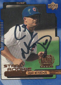 Chad Meyers Autograph on a 1999 Upper Deck (#26)
