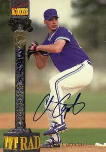 Chris Carpenter Autograph on a 1994 Signature Rookies (#3241)