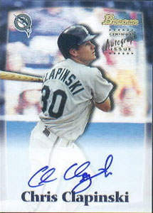 Chris Clapinski Autograph on a 2000 Bowman (#BDPA59)