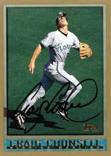 Craig Counsell Autograph on a 1998 Topps (#343)