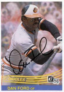 Dan Ford Autograph on a 1984 Donruss Baseball Card (#367 | <a href='../baseball_cards/baseball_cards_oneset.php?s=1984don01' title='1984 Donruss Baseball Card Checklist'>Checklist</a>)