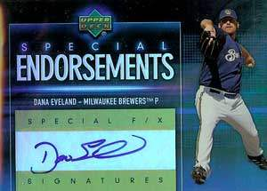 Dana Eveland Autograph on a 2006 Upper Deck Baseball Card (#SE-EV)