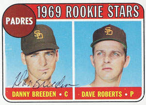 Danny Breeden Autograph on a 1969 Topps Baseball Card (#536 | <a href='../baseball_cards/baseball_cards_oneset.php?s=1969top01' title='1969 Topps Baseball Card Checklist'>Checklist</a>)