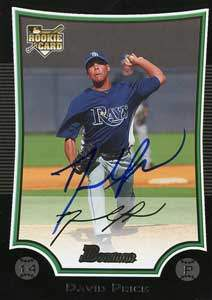 David 'Astro's Dad' Price Autograph on a 2009 Bowman Baseball Card (#213)