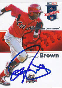 Domonic Brown Autograph on a 2008 Tristar Projections (#231)