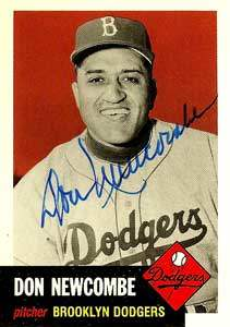 Don 'Newk' Newcombe Autograph on a 1991 Topps Archives Baseball Card (#320 | <a href='../baseball_cards/baseball_cards_oneset.php?s=1991top05' title='1991 Topps Archives Baseball Card Checklist'>Checklist</a>)
