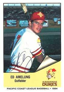 Ed Amelung Autograph on a 1984 Cramer Sports (#163)