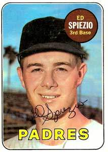 Ed Spiezio Autograph on a 1969 Topps Baseball Card (#249 | <a href='../baseball_cards/baseball_cards_oneset.php?s=1969top01' title='1969 Topps Baseball Card Checklist'>Checklist</a>)
