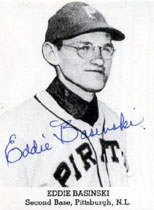 Eddie Basinski Autograph on a 1991 Tip-Top Reprint