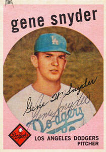 Gene Snyder Autograph on a 1959 Topps Baseball Card (#522 | <a href='../baseball_cards/baseball_cards_oneset.php?s=1959top01' title='1959 Topps Baseball Card Checklist'>Checklist</a>)