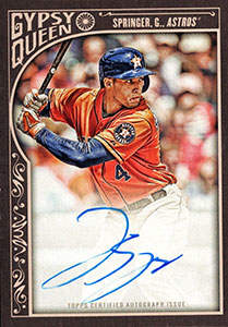 George Springer Autograph on a 2015 Topps Gyspy Queen (#GQA-GS)