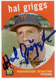 Hal Griggs Autograph on a 1959 Topps Baseball Card (#434 | <a href='../baseball_cards/baseball_cards_oneset.php?s=1959top01' title='1959 Topps Baseball Card Checklist'>Checklist</a>)