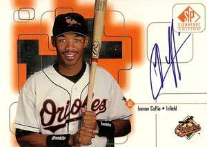Ivanon Coffie Autograph on a 1999 Upper Deck SP (#65)