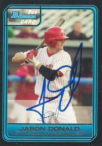 Jason Donald Autograph on a 2006 Bowman (#DP63)
