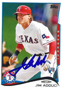 Jim Adduci Autograph on a 2014 Topps (#52)