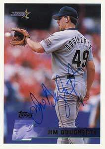 Jim Dougherty Autograph on a 1996 Topps (#76)