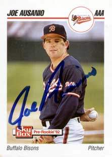 Joe Ausanio Autograph on a 1992 SkyBox (#12)