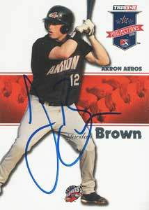 Jordan Brown Autograph on a 2008 Tristar (#170)