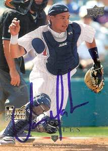 Jose Morales Autograph on a 2008 Upper Deck (#329)