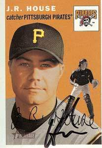 J.R. House Autograph on a 2003 Topps (#145)