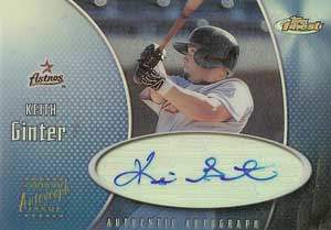 Keith Ginter Autograph on a 2001 Topps Finest (#FA-KG)