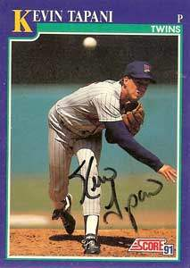 Kevin Tapani Autograph on a 1991 Score Baseball Card (#60 | <a href='../baseball_cards/baseball_cards_oneset.php?s=1991sco01' title='1991 Score Baseball Card Checklist'>Checklist</a>)