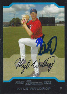 Kyle Waldrop Autograph on a 2004 Bowman (#BDP107)