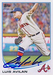 Luis Avilan Autograph on a 2013 Topps (#US298)