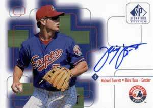 Michael Barrett Autograph on a 1999 Upper Deck SP (#5)